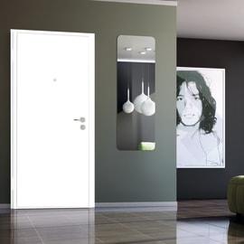 Porta blindata Bicolor bianco- noce L 80 x H 200 cm sinistra