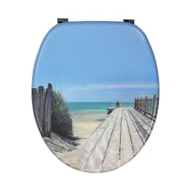 Copriwater ovale Holiday Beach decoro fantasia