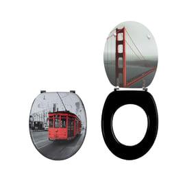 Copriwater ovale San Francisco decoro fantasia