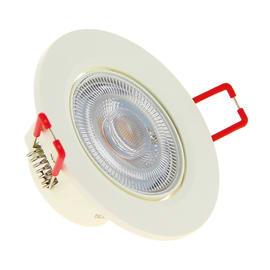 Faretto fisso da incasso orientabile tondo Dim in plastica, bianco, diam. 6.5 cm LED integrato 5.6W 345LM IP20 XANLITE