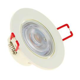 Faretto fisso da incasso orientabile tondo Dim in plastica, bianco, diam. 8.6 cm LED integrato 5.6W 345LM IP20 YANTEC