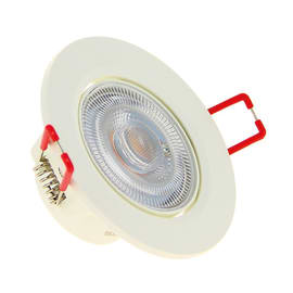 Faretto fisso da incasso orientabile tondo Click in plastica, bianco, diam. 8.6 cm LED integrato 6.5W 450LM IP20 XANLITE