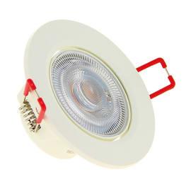 Faretto fisso da incasso orientabile tondo Switch in plastica, bianco, diam. 8.6 cm LED integrato 6.5W 345LM IP20 XANLITE