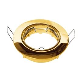 Faretto da incasso tondo Clane in alluminio, oro, diam. 8.2 cm GU10 MAX0W IP23 INSPIRE 1 pezzi