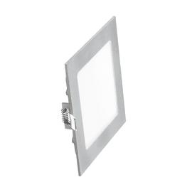 Faretto fisso da incasso quadrato Winter in alluminio, nichel, 1.3x14.6cm LED integrato 9W 540LM IP20