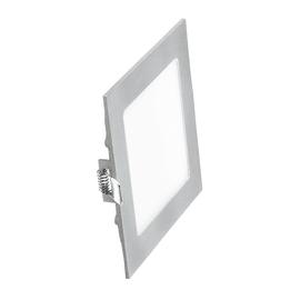 Faretto fisso da incasso quadrato Winter in alluminio, nichel, 1.3x14.6cm LED integrato 9W 585LM IP20