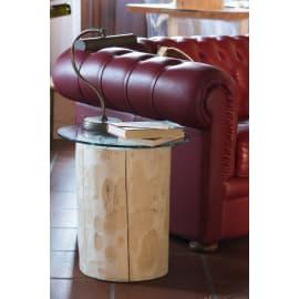 Tavolino da giardino rotondo in legno