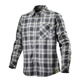 Camicia Shirt Check Tg XL nero bianco