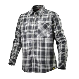Camicia Shirt Check Tg XXL nero bianco