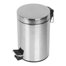 Pattumiera da bagno a pedale grigio / argento 3 L