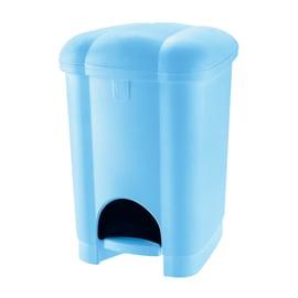 Pattumiera da bagno a pedale Carolina blu 6 L