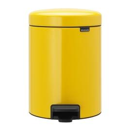 Pattumiera da bagno a pedale Newicon giallo / dorato 5 L