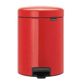 Pattumiera da bagno a pedale Newicon rosso 5 L
