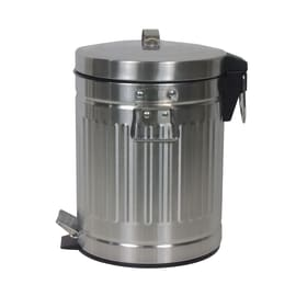 Pattumiera da bagno a pedale Street grigio / argento 5 L