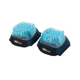 Ginocchiere DEXTER PRO in gel taglia unica nero e blu e arancio / ramato 2 pezzi
