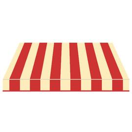 Tenda da sole a bracci estensibili manuale TEMPOTEST PARA' L 240 x H 210 cm beige, rosso Cod. 61
