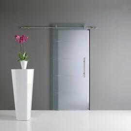 Porta scorrevole con binario esterno Auriga in vetro Kit B L 76 x H 220 cm sx