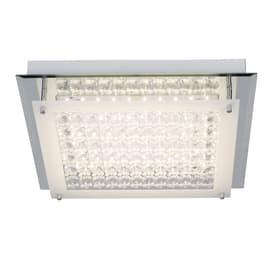 Plafoniera Diamond cromo, in metallo, 36x36 cm, LED integrato 18W 1800LM IP20 INSPIRE