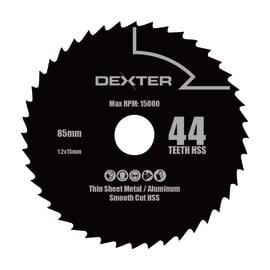 Lama per sega circolare DEXTER POWER acciaio e carbonio Ø 85 mm 44 denti