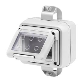 Scatola Combi system,fissaggio abbraccio palo IP55 3 moduli