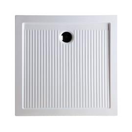 Piatto doccia ceramica Slim 80 x 80 cm bianco