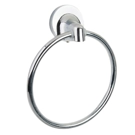 Porta salviette ad anello Elliot cromo lucido L 24 cm