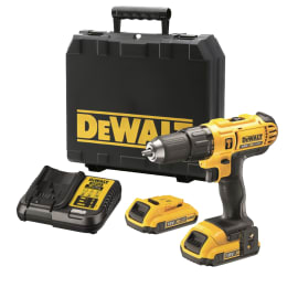 Trapano avvitatore a batteria con percussione DEWALT DCD776D2-QW, 18 V, 2 Ah, 2 batterie