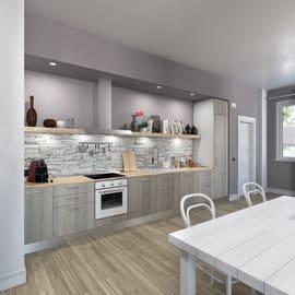 Cucina in kit DELINIA pembroke dark bianco