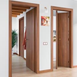 Porta scorrevole a scomparsa Schubert noce L 80 x H 210 cm reversibile