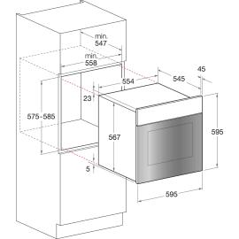 Forno Elettrico multifunzione ventilato 7 funzioni HOTPOINT FIT 804 H AV HA