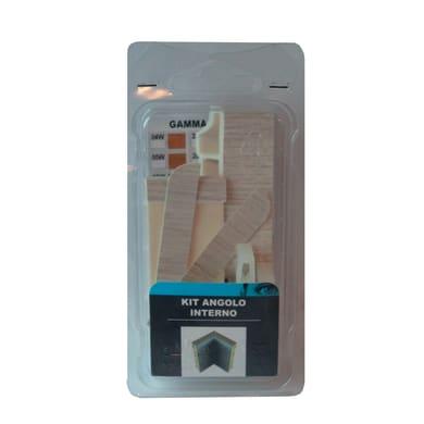 Angolare interno in kit kit angolo interno battiscopa 7011 rovere sbiancato 5 x Sp 20 mm