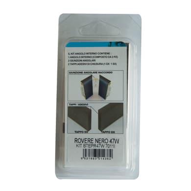Angolare interno in kit rovere nero 5 x 11 cm Sp 20 mm
