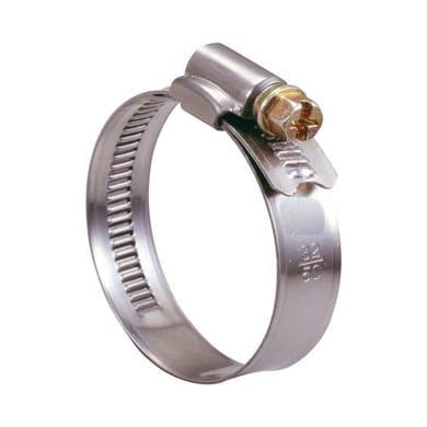 Fascetta a collare in metallo BM con banda piena per tubi d.40/59