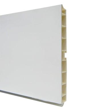 Zoccolino per mobile cucina in pvc L 300 cm x H 100 mm, spessore 14 mmbianco