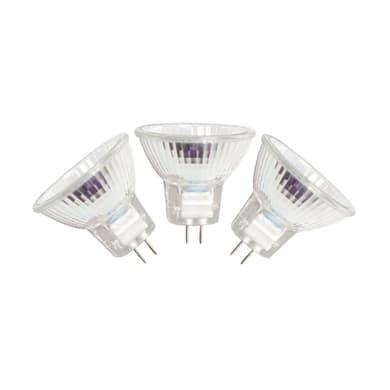 Set di 3  lampadine Alogena, GU5.3, Faretto, Trasparente, Luce calda, 25W=300LM (equiv 35 W), 36° , LEXMAN