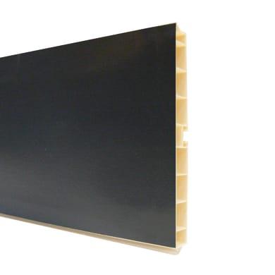 Zoccolino per mobile cucina in pvc L 300 cm x H 150 mm, spessore 14 mmnero