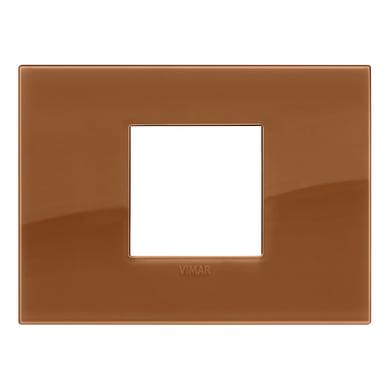 Placca VIMAR 2 moduli reflex caramel