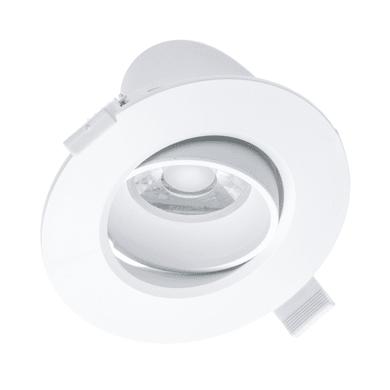 Faretto fisso da incasso orientabile tondo Kris in plastica, bianco, diam. 10.5 cm 6x10.5cm LED integrato 10W 750LM IP20