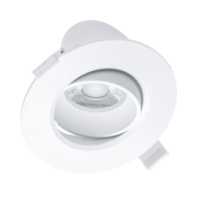Faretto orientabile da incasso tondo Kris bianco, diam. 10.5 cm LED integrato 10W 750LM IP20
