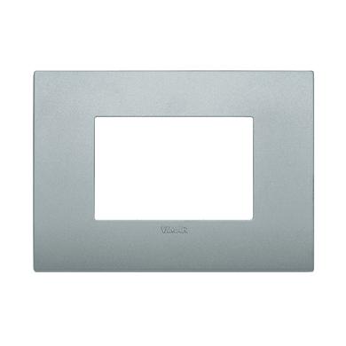 Placca VIMAR Arké Classic 3 moduli silver matt