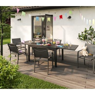 Set tavolo e sedie nero