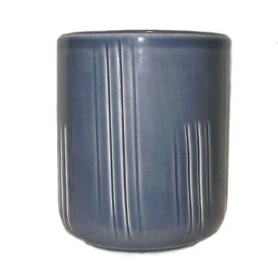 Bicchiere porta spazzolini Denim graffiti in ceramica blu