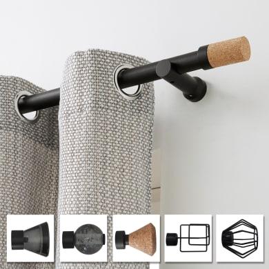 Finale per bastone Atelier pomolo Ø28mm nero opaco INSPIRE Set di 2 pezzi