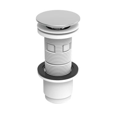 Valvola di drenaggio per lavabo / lavamani / vasca cromato EQUATION con predisposizione troppo pieno click-clack