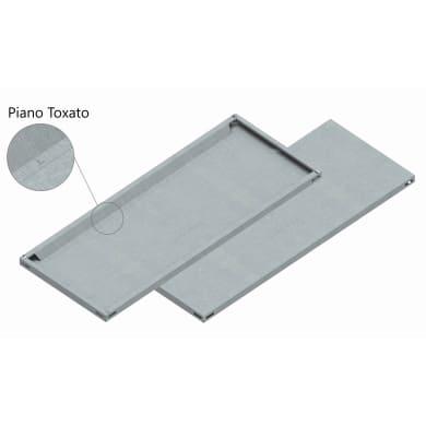 Mensola in metallo LMIT L 120 x H 12 x P 0.5 cm grigio zincato
