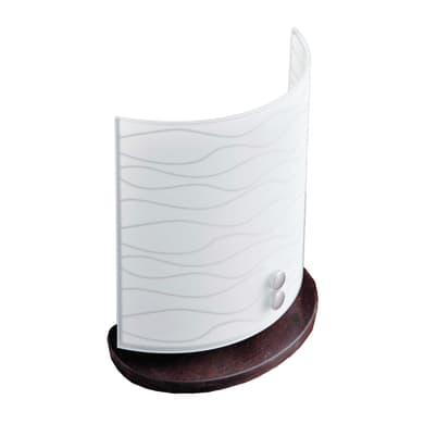 Lampada da comodino Classico Acquario bianco, in legno