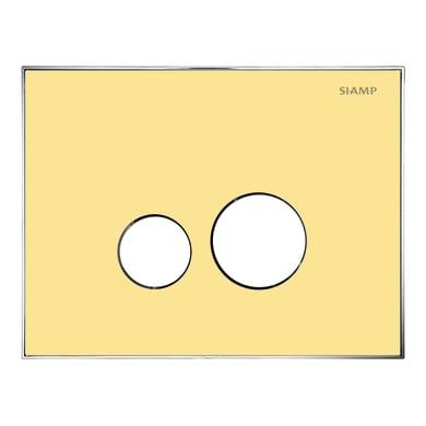Placca di comando per wc sospeso 10001287 giallo