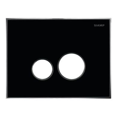 Placca doppio tasto Album 360 nero