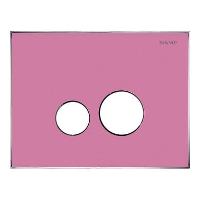 Placca di comando per wc sospeso 10001288 rosa