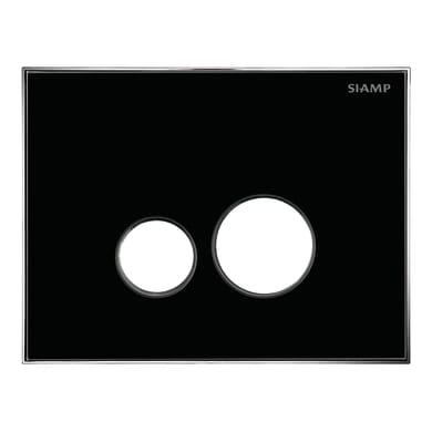 Placca doppio tasto Reflet 360 nero